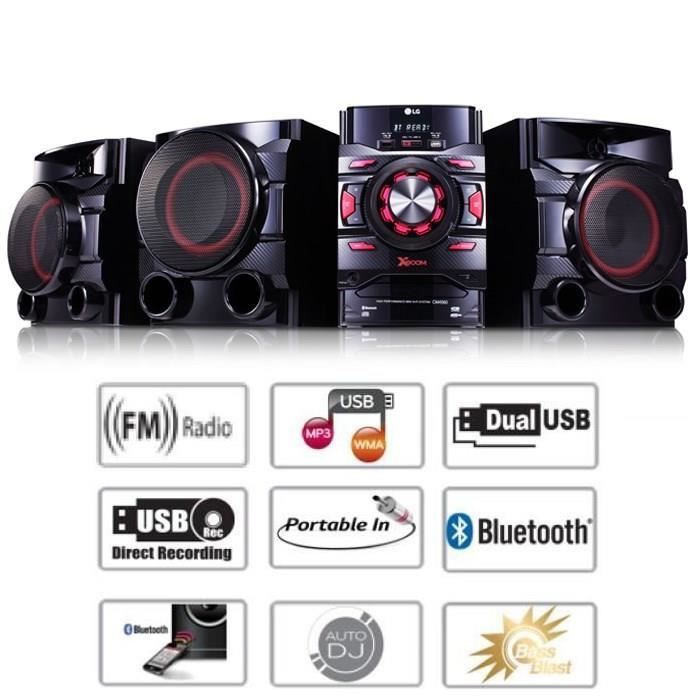 lg cm4560 cha ne hifi 700w bluetooth usb radio fm chaine hi fi avis et prix pas cher cdiscount. Black Bedroom Furniture Sets. Home Design Ideas