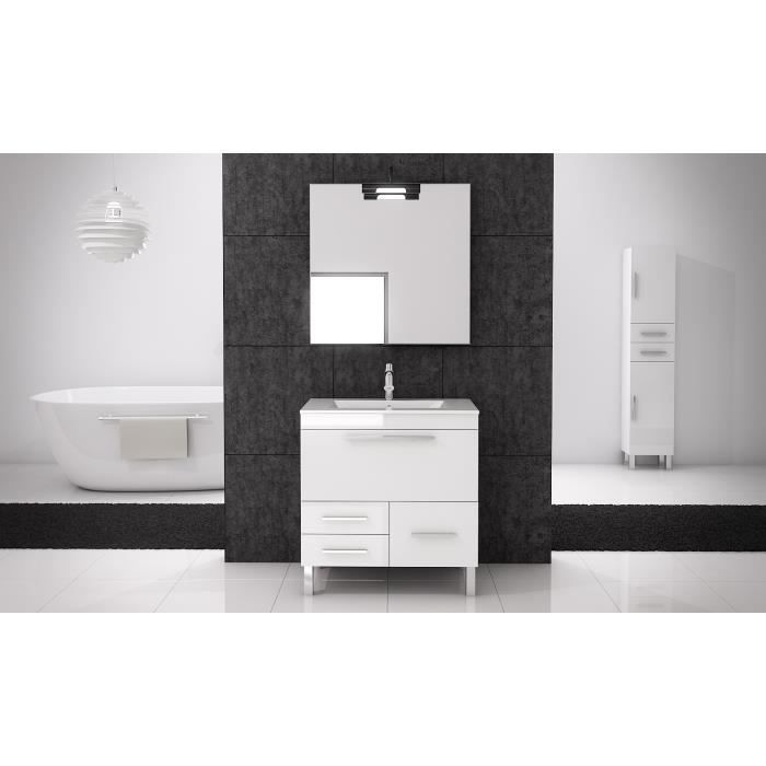 meuble salle de bain 80 cm. Black Bedroom Furniture Sets. Home Design Ideas