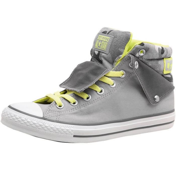 CONVERSE ALL STAR LIMITED PADDED COLAR ELECTRIC JAUNE & GRIS CAMO CAMOUFLAGE FQw5jB