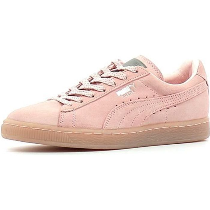 baskets basses puma suede mono rose rose achat vente basket cdiscount. Black Bedroom Furniture Sets. Home Design Ideas