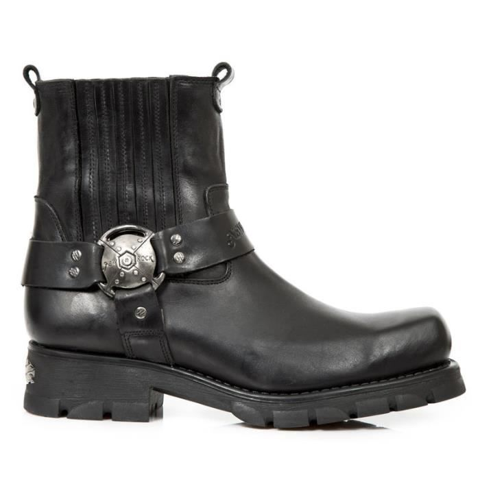 Bottines cuir New Rock M.7605-S1 snzM149tL