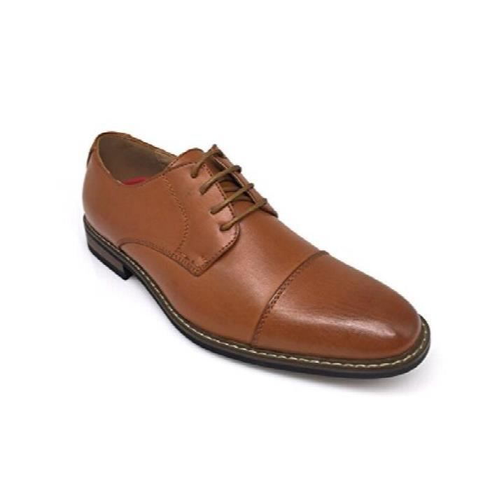 Dress Oxfords Shoes Italy Modern Designer Wingtip Captoe 2 Tone Lace Up Shoes E71UI Taille-46 DPok6kjaMp
