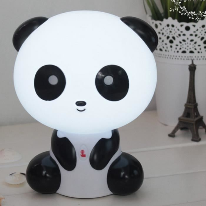 Table de dessin anim panda lampe nuit lumi re de la lampe - Lampe table de nuit ...
