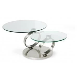 Table basse design ring plateaux pivotants ronde achat vente table basse - Table de salon ronde en verre ...