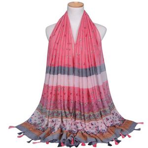 ... ECHARPE - FOULARD Mode féminine Stripe Glands long souple Wrap Châle ... a9a3f5c6223