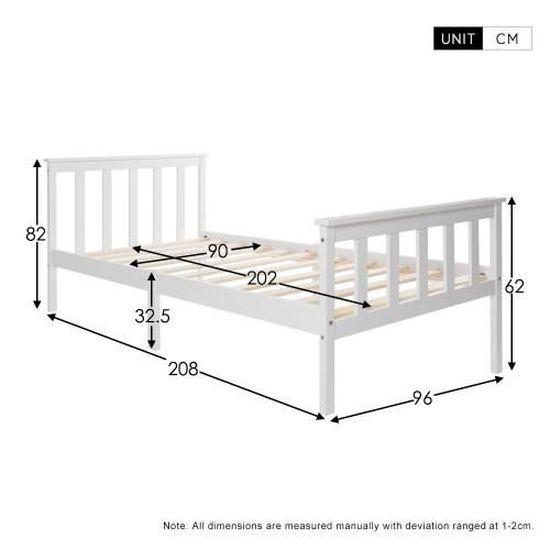 Lit en bois moderne de luxe simple en cadre +sommier à lattes avec