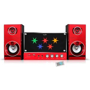 INOVALLEY HP100-BTH Chaîne Hifi Disco Bluetooth - Fonction Karaoké