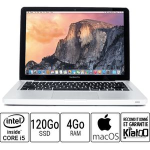 Vente PC Portable Ordinateur portable APPLE MACBOOK PRO 13 core i5 4 go ram 120 go disque dur SSD pas cher