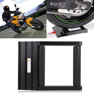 Support Rouleaux Moto Capacit/é de Charge Max 400kg Support de Nettoyage de Roue et Cha/îne de Moto L/ève Moto Tourne Roues Arri/ères Avants en Aluminium