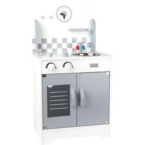DINETTE - CUISINE Cuisine en bois Studio avec horloge réfrigérateur