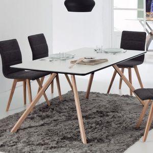 TABLE À MANGER SEULE Table à manger blanche en hêtre scandinave RAGNAR