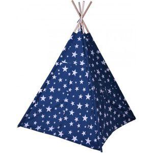 TENTE TUNNEL D'ACTIVITÉ Tente de Jeu pour Enfant Tipi Bleu avec Étoiles Bl