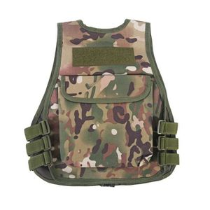 Tbest Gilet de Camouflage denfants avec la Poche Multiple pour Le Jeu Ext/érieur de Chasse de Combat