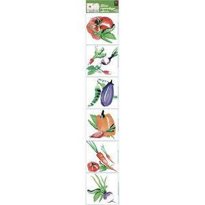 STICKERS PLAGE  Sticker déco carrelage - Aquarelle6 planche