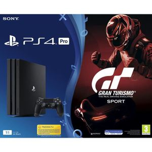 CONSOLE PS4 CONSOLE PS4 PRO - 1TO BLACK - BUNDLE GT SPORT