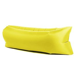 CANAPE GONFLABLE - FAUTEUIL GONFLABLE G-Max Jaune gonflable chaise longue portable Air L