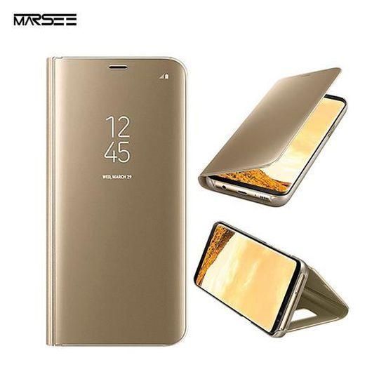 Samsung Galaxy S9 Plus Coque Support à Rabat pour Samsung Galaxy S9 Plus- OR