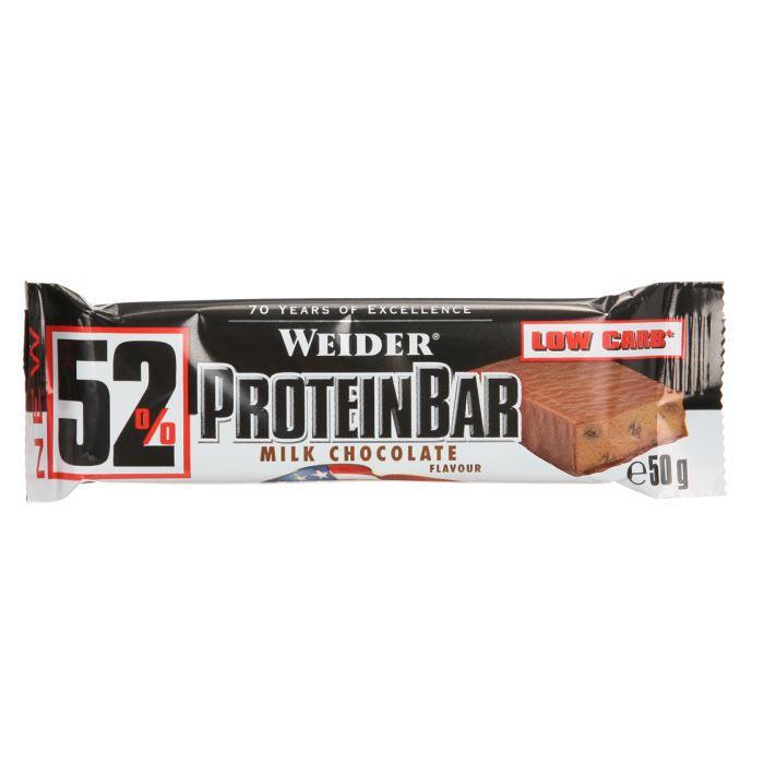 WEIDER Barre protéinée 52% Chocolat NTT