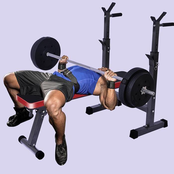 Banc de musculation professionnel - Banc de poignée réglable en hauteur - Formation d'exercice Max 200KG