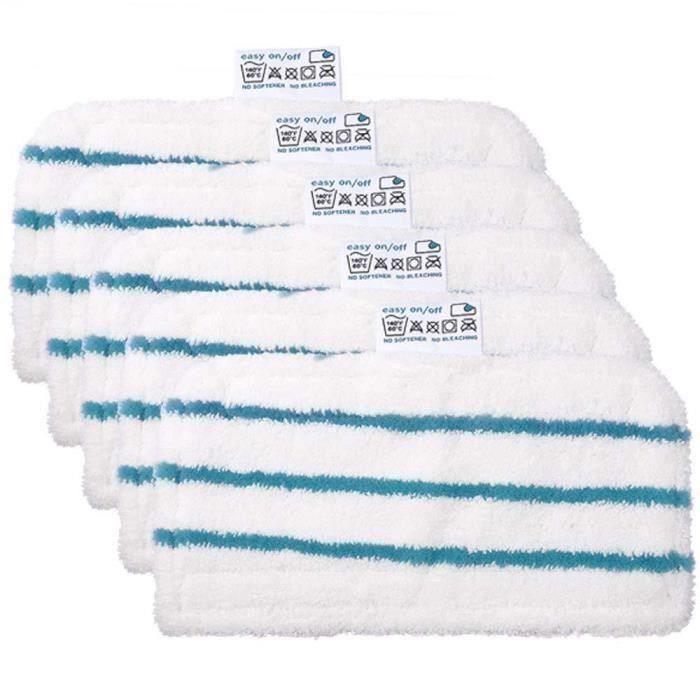 Lot de 5 tampons de Nettoyage de Rechange lavables Lingettes en Microfibre pour Balai Vapeur Black & Decker FSM1610-1630
