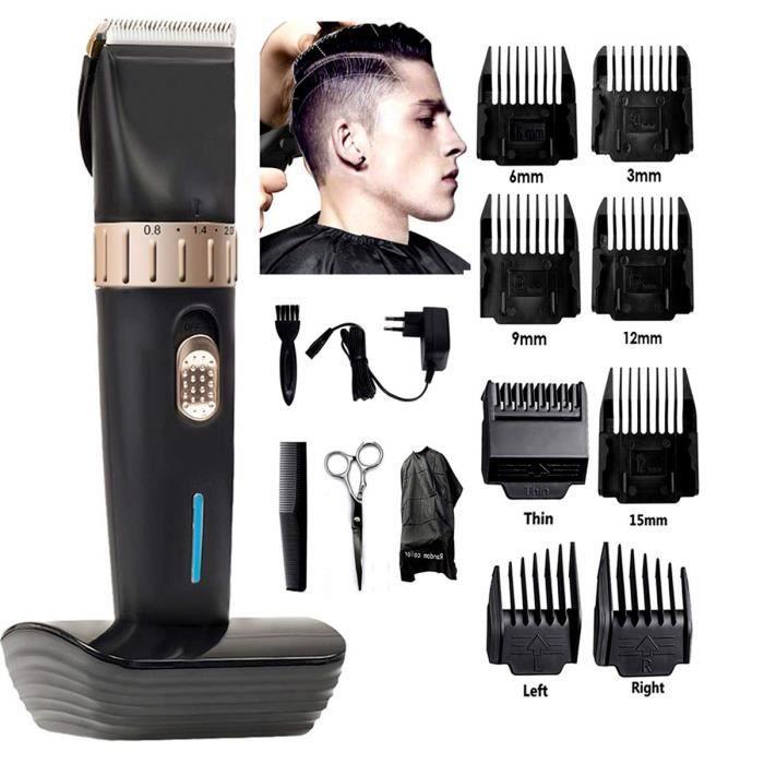 MXIN Tondeuse Cheveux Hommes Hommes Coupe-Cheveux de précision sans Fil Coupe-Poils Set 8 Guides Peignes, Tondeuse Hommes, Femmes