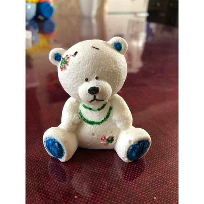 Przym Mol moule à Fondant en Silicone, ours en peluche 3d mignon, Mousse au chocolat, moules à gâteau, pierre d'arôm*TR12541