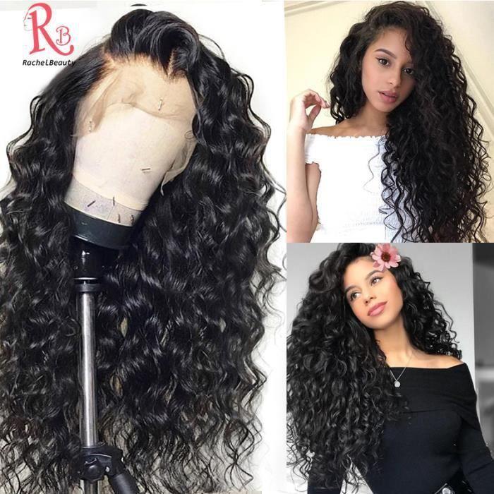 24- 360 Lace Wig Perruque Cheveux Humains Naturel 100% Bresilien Water Wave Densité 150% Wig 24 Pouces
