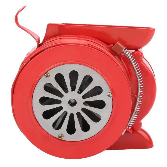 Cikonielf Sirène à manivelle Alarme manuelle portative rouge de sirène de manivelle pour les troupes d'écoles alarmant 120DB