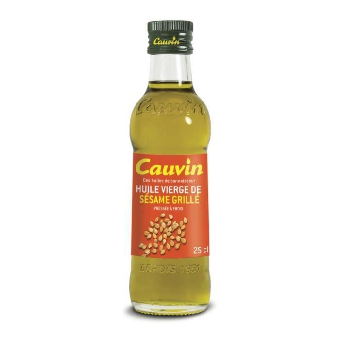 Huile vierge de sésame grillé 250 ml Cauvin