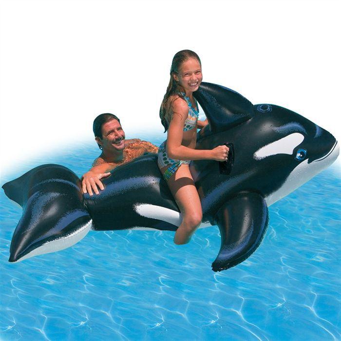 Baleine Gonflable à Chevauche 193 cm
