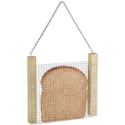 Les oiseaux pourront profiter de vos croûtes de pain et venir chanter à vos fenêtres. Ce panier s'accroche grâce à une chaîne sit...