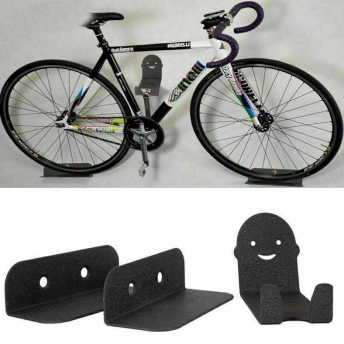 Support mural vélo -Crochet de rangement vertical - porte vélo maison charge 25 kg