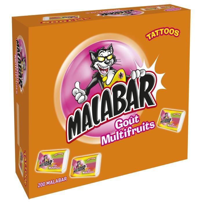 MALABAR Bonbons Multifruits - Boite de 200 pièces