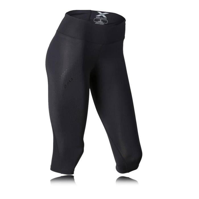 2Xu Mid Rise Femme Capri Compression Course À Pied Collants Noir