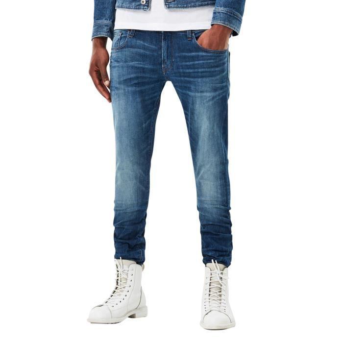 G-Star Homme 3301 Deconstructed Super Slim Jeans, Bleu