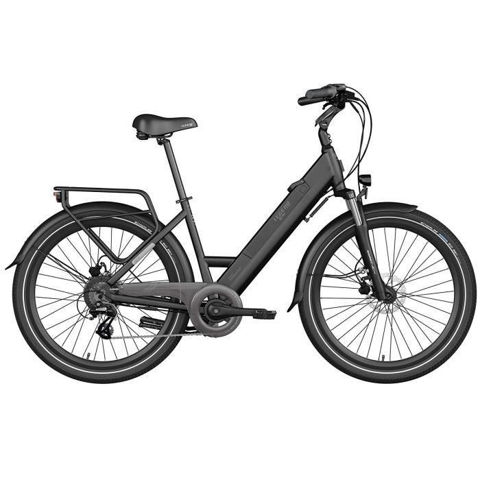 Vélo Électrique Urbana Smart eBike Legend Milano Roues de 26 Pouces, Batterie 36V 10.4Ah (374.4Wh), Noir Onyx