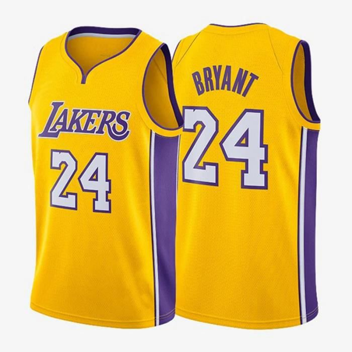 Maillot de Basket Ball Los Angeles Lakers #24 Kobe Bryant Homme Basketball Pas Cher