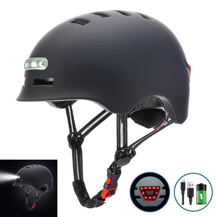 SURENHAP - Casque de Vélo Avec Charge USB Lumière Vive, Voyant D'avertissement - Rithok -9s4df4