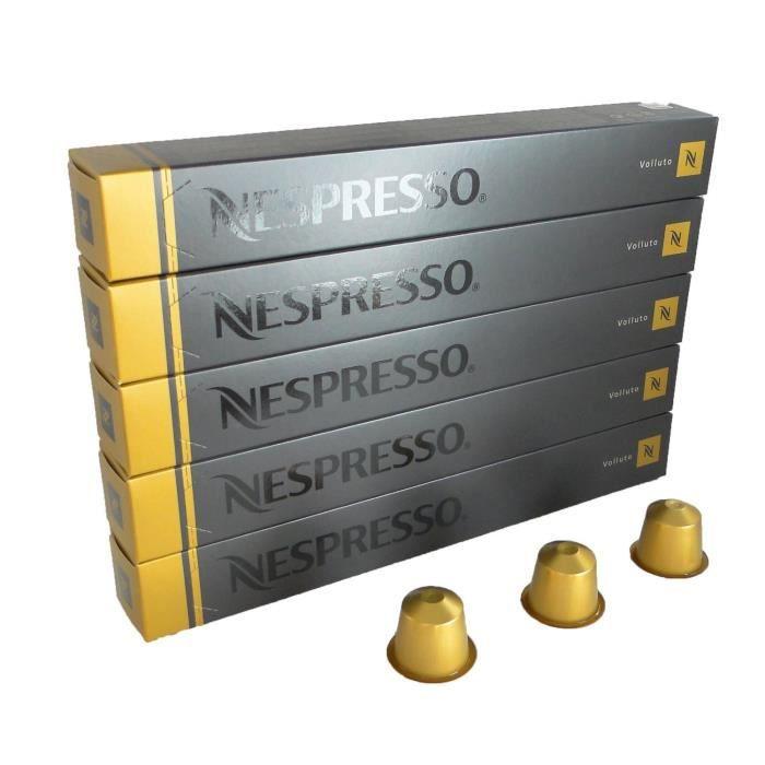 NESPRESSO Lot de 50 CAPSULES Neuves - Volluto