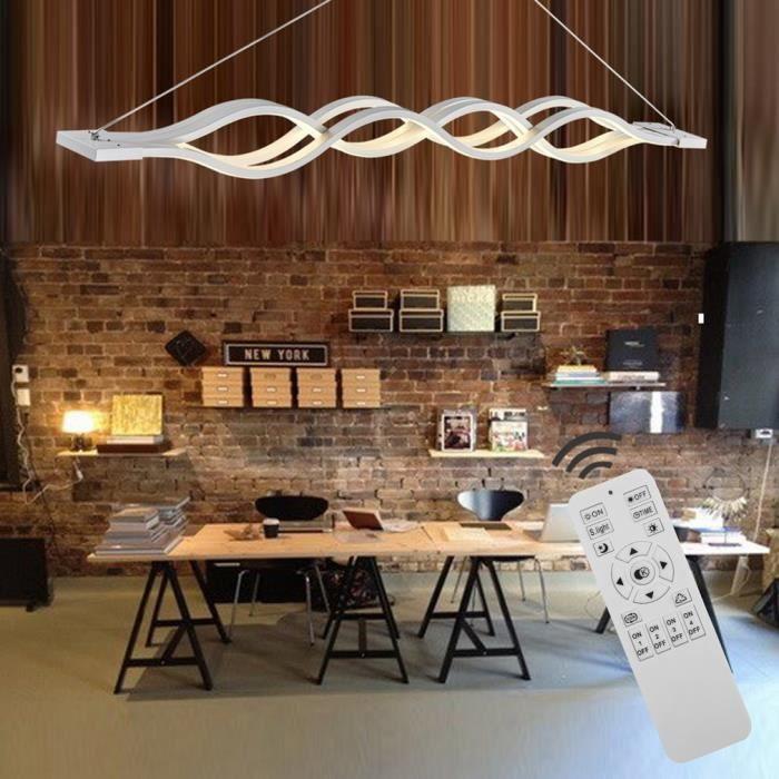 Plafonnier suspension lustre LED design moderne pendentif de lumière luminaire 60w - blanc chaud