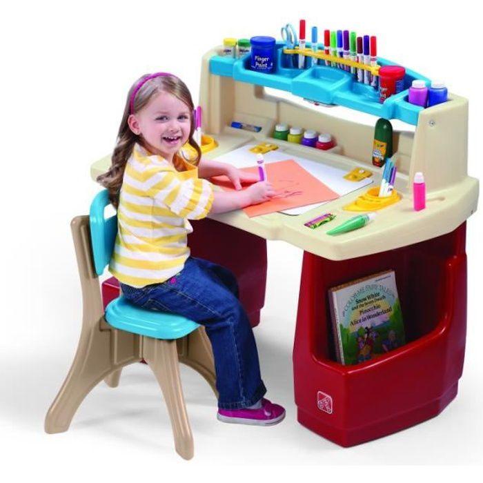 Grand bureau avec chaise créatif Step2 en plastique pour enfant à partir de 3 ans
