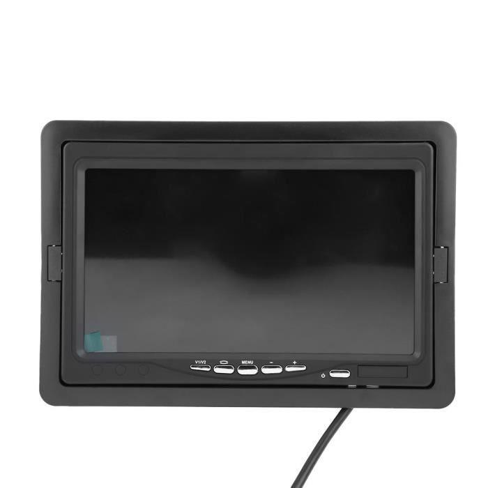 YOSOO Moniteur de renversement sans fil pour voiture Moniteur Voiture Vue Arrière Recul Stationnement Caméra Couleur Ecran LCD TFT