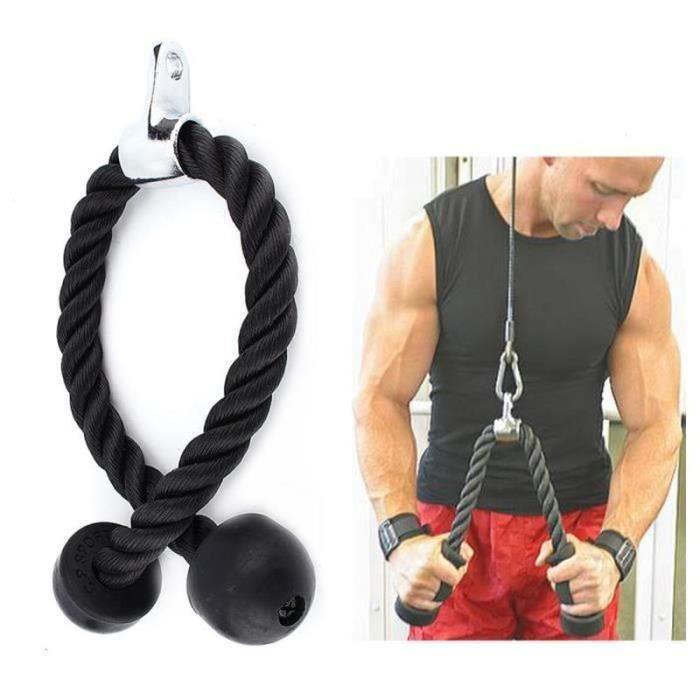 LD28753-Corde de fitness triceps corde câble de traction Accessoire de Musculation pour Multi Gym barre