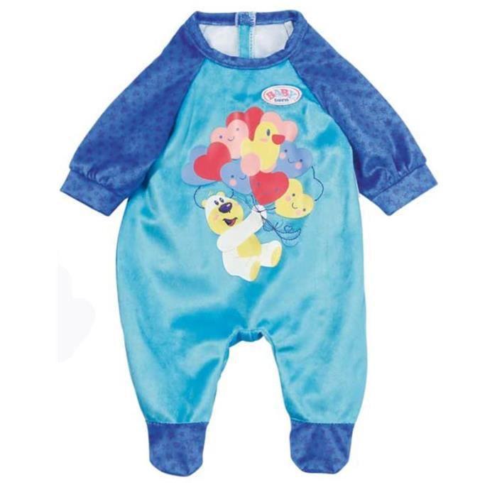 Zapf Creation 828250 BABY Born Grenouillère pour poupée de 43cm bleu