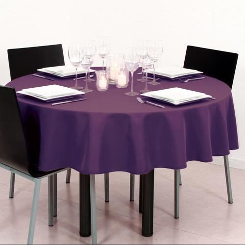 nappe anti t ches ronde diam 180 cm violet achat vente nappe de table cdiscount. Black Bedroom Furniture Sets. Home Design Ideas