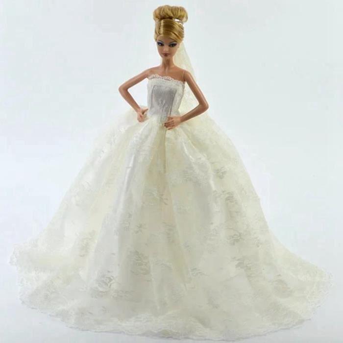 Robe de mariée blanche magnifique avec voile