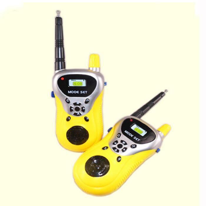 Pack de deux talkie-walkie portables pour enfants jouets d/'enfants jeux educatif