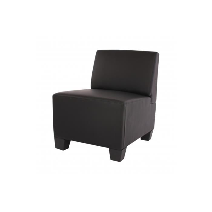 fauteuil modulable sans accoudoirs similicuir noir achat vente fauteuil cdiscount. Black Bedroom Furniture Sets. Home Design Ideas