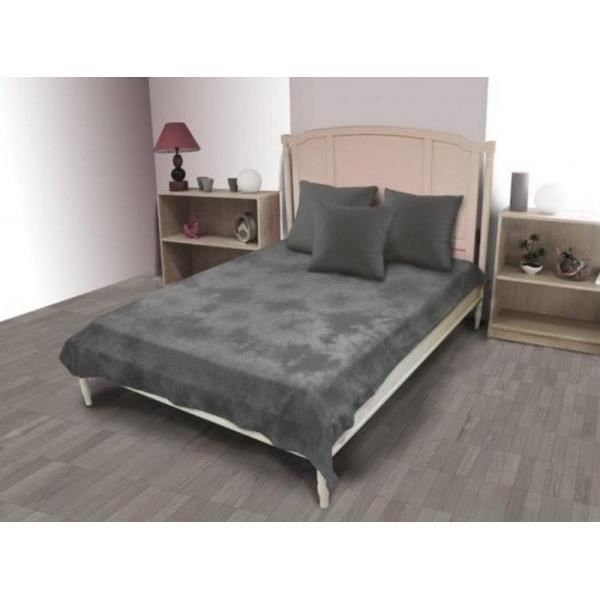 jet de lit 220x240 cm tie and dye couleur gris achat. Black Bedroom Furniture Sets. Home Design Ideas