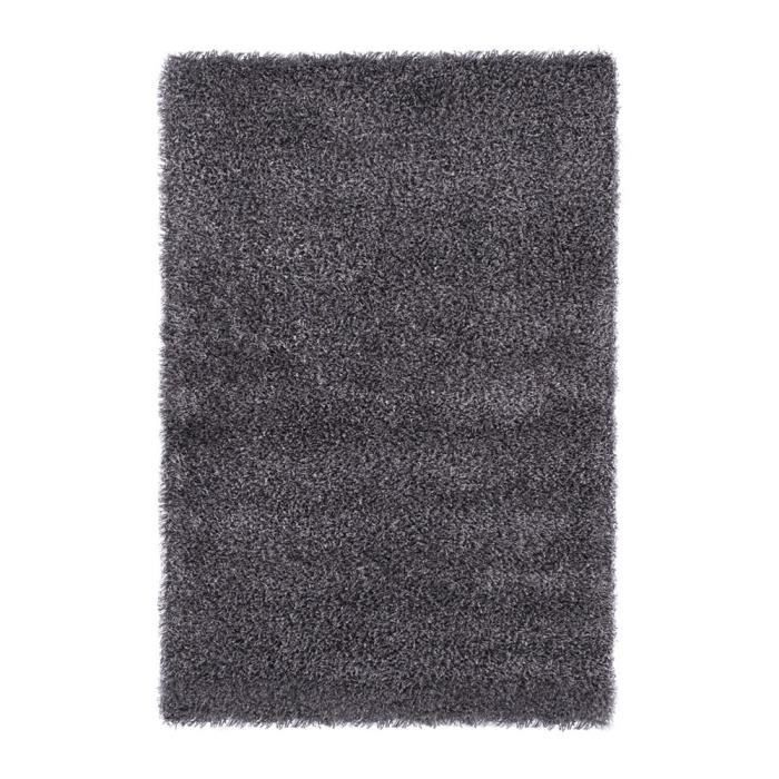 Tapis cozy gris taille m achat vente tapis cdiscount Tapis gris grande taille